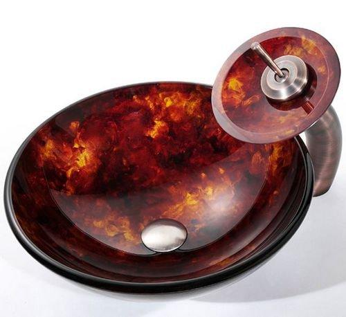 Kraus раковина из цветного стекла