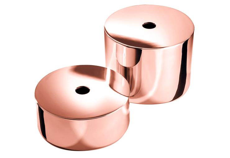 Современные аксессуары для ванной из меди
