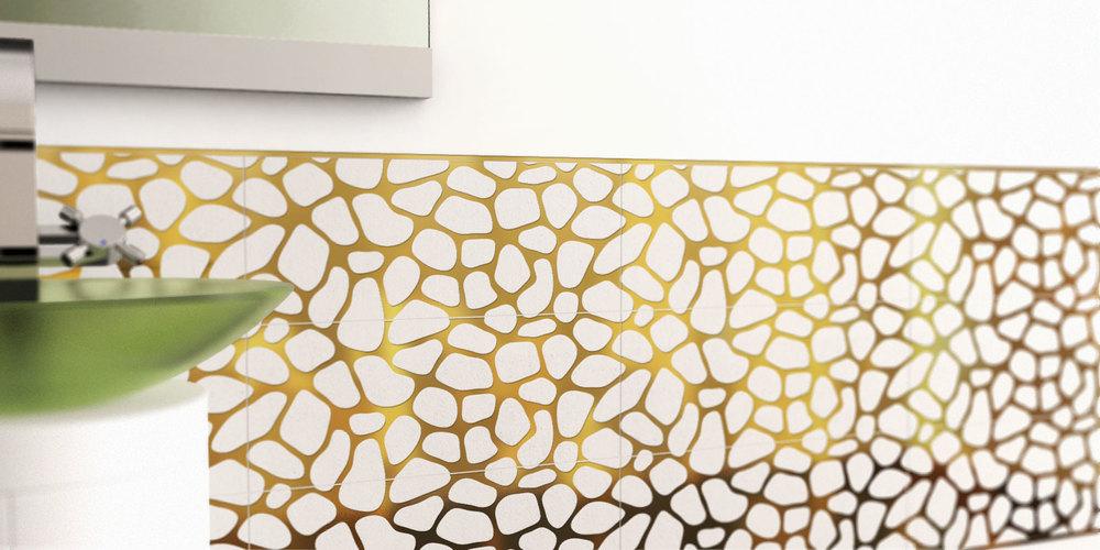 плитка из микроцемента с металлом