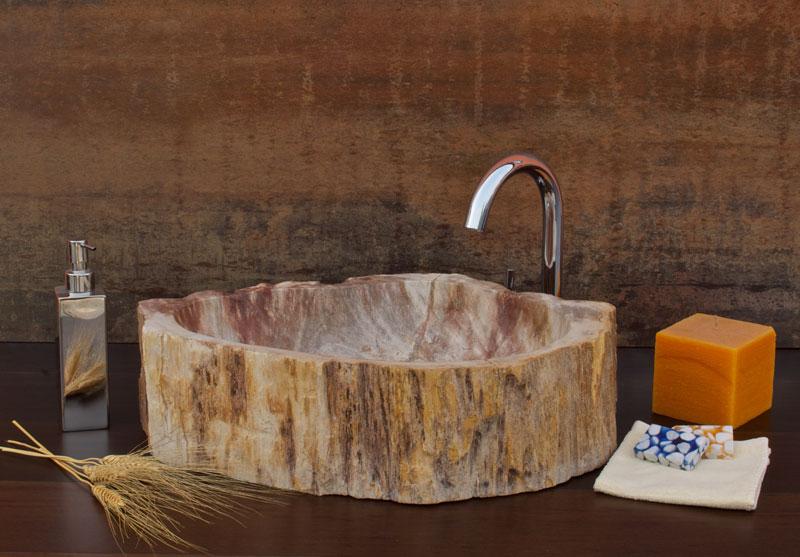 h20stone раковины из окаменелой древесины