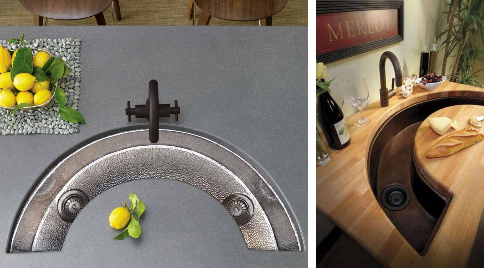 вспомогательная кухонная сервировочная мойка полукруглая для кухонного строва