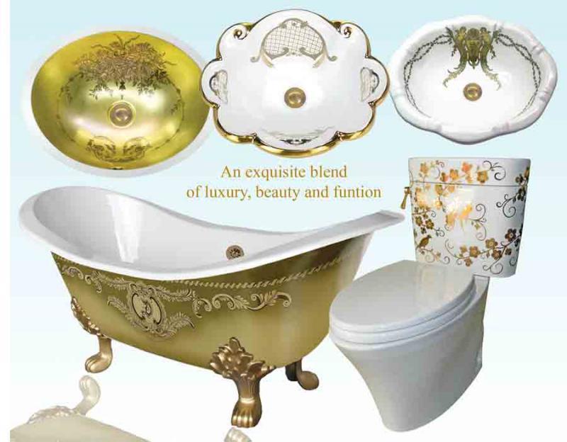 Atlantis Porcelain Art американские декорированные в ручную раковины, унитазы, кухонные мойки и ванны