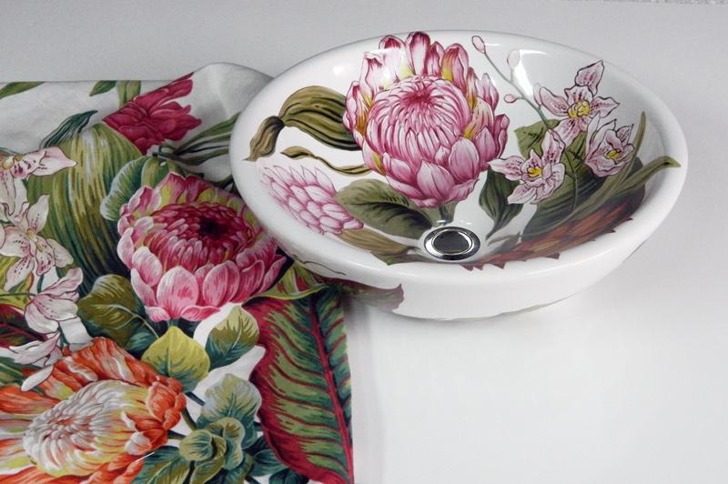 Раковины для ванной с декором (рисунком или орнаментом) на заказ по эскизам заказчика