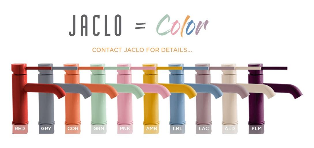 Цветные смесители Jaclo: красный, розовый, синий, голубой, фиолетовый, кремовый