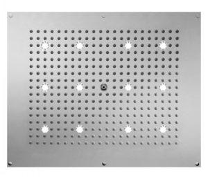 """Jaclo лейки верхнего душа с функцией """"тропический душ"""" и хромо терапией (LED цветная подсветка) 40х50 см"""