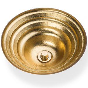 Золотой декор в сантехнике ближневосточном стиле