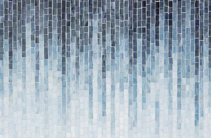 Billie_AT_article мозаика из цветного стекла в форме волны